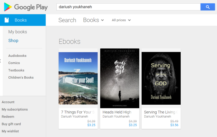 My books are LIVE in Google Play Store – You are awesome